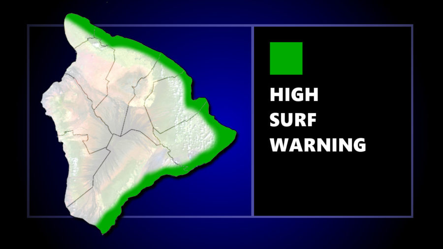 High Surf Warning Posted For East Hawaii
