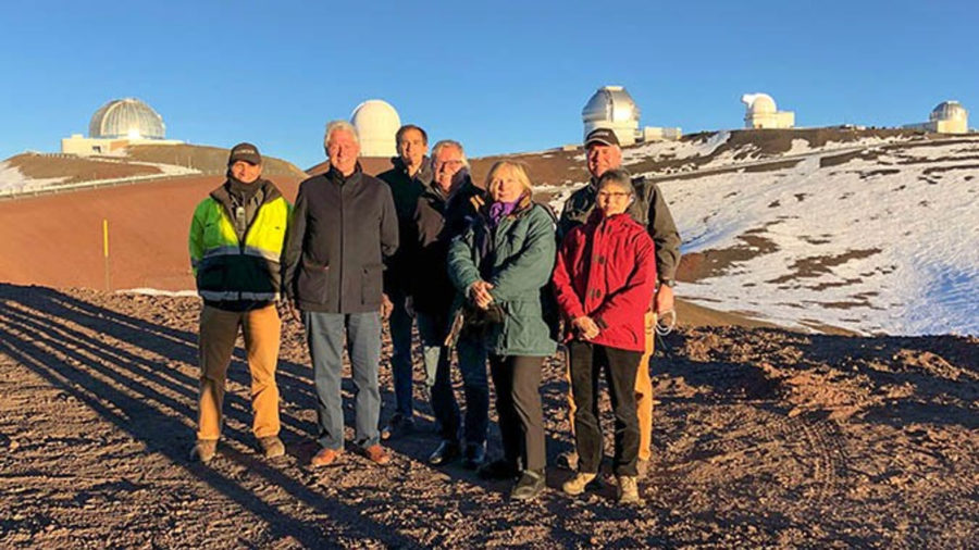 Bill, Hillary Clinton Ascend Mauna Kea