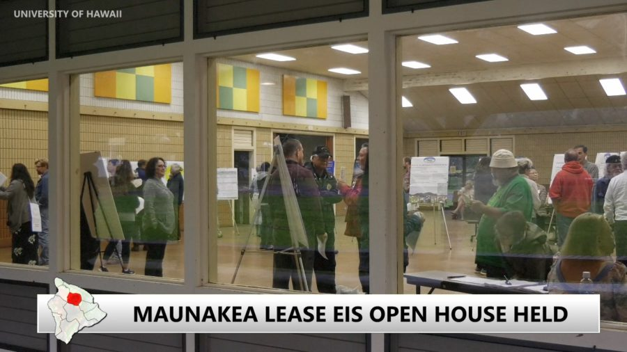 VIDEO: Open House In Waimea For Mauna Kea Land Lease EIS