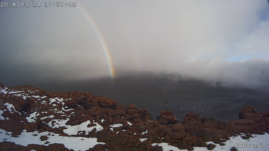 Mauna Loa Update: Microearthquakes And Rainbows