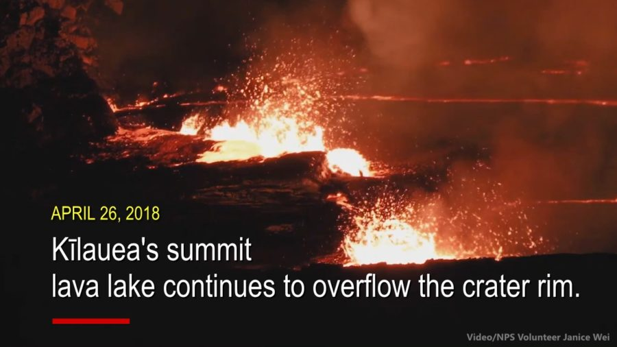 VIDEO: Overflowing Lava Lake Recorded From Above