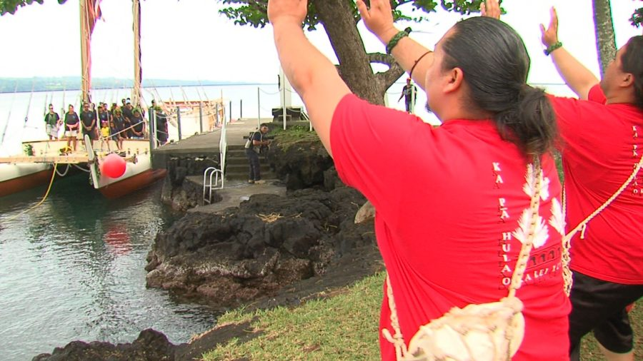 VIDEO: Hokule'a Returns To Hilo, Where World Wide Voyage Began