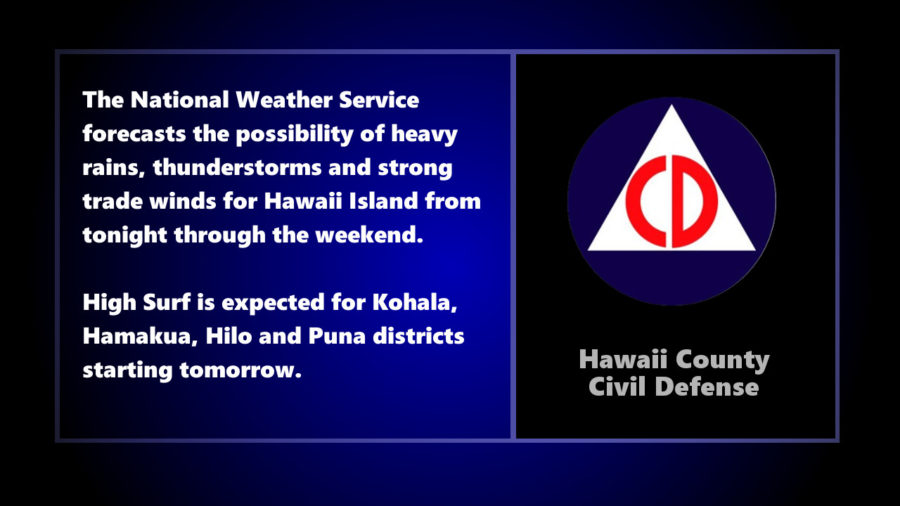 Civil Defense Warns Of Hazardous Weather This Weekend