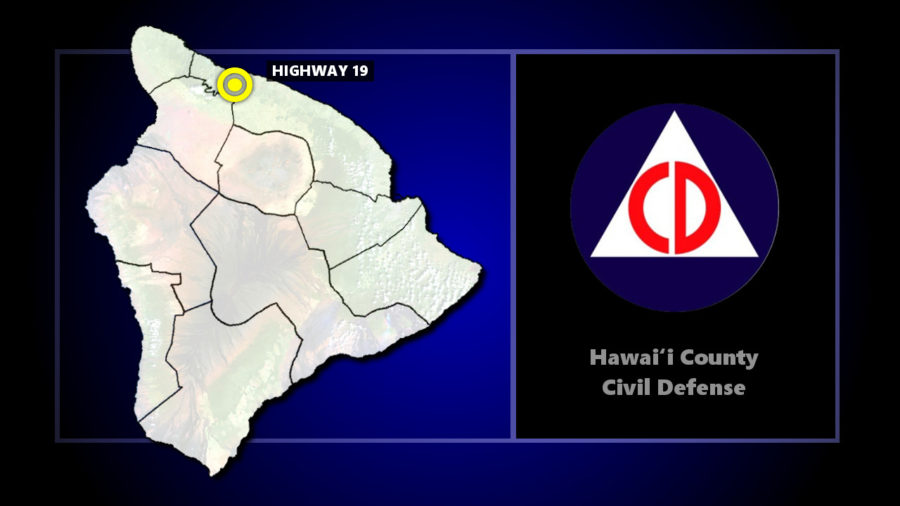 Fallen Trees Force Closures On Highway 19 North Of Honokaa