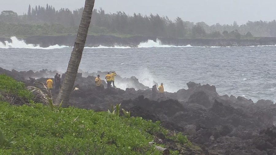 VIDEO: Man Swept Off Puna Cliff During Police Incident