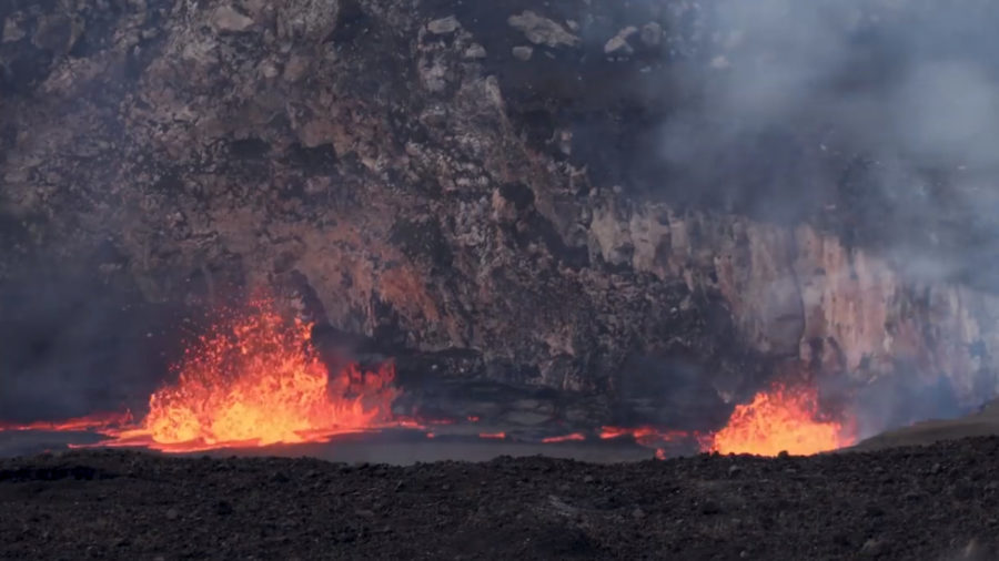 Kilauea Volcano Lava Lake Rises High