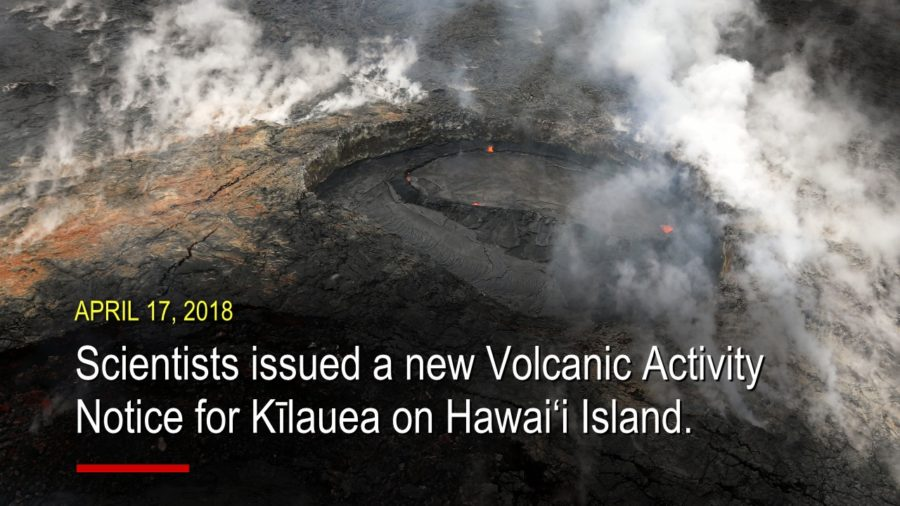 New Volcanic Activity Notice Issued For Kilauea
