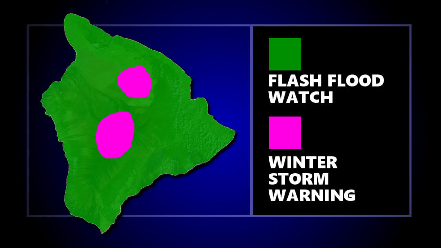 Winter Storm Warning, Flood Watch For Hawaii Island
