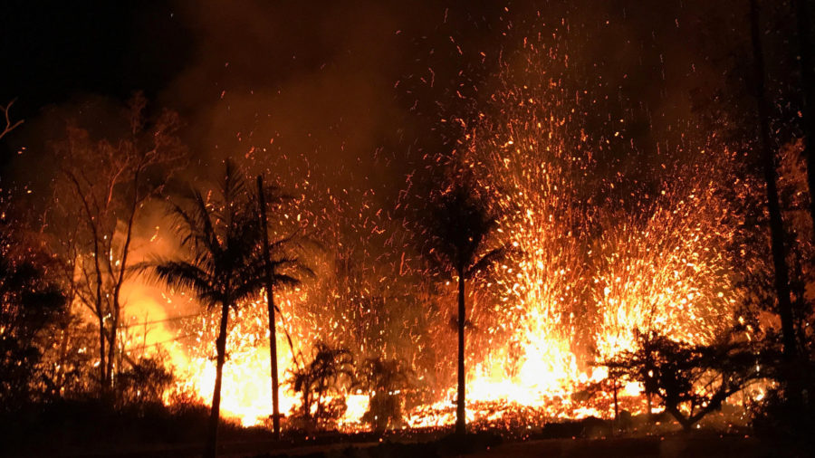 VIDEO: 10 pm Eruption Update – 230 ft. High Lava Fountains On Luana St.