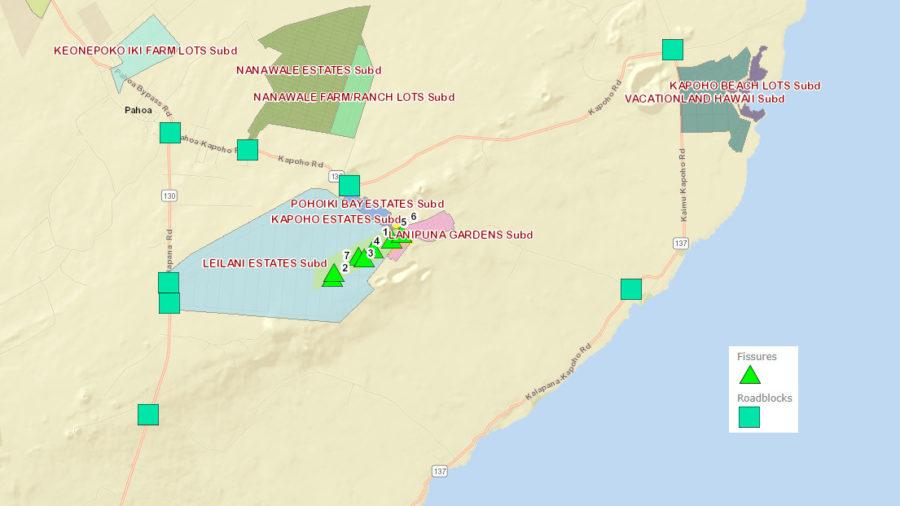 1 am Eruption Update – New Ground Cracks On Highway 130