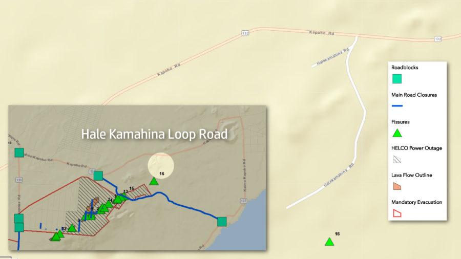 Eruption Notice: New Fissure Evacuates Hale Kamahina Loop Road