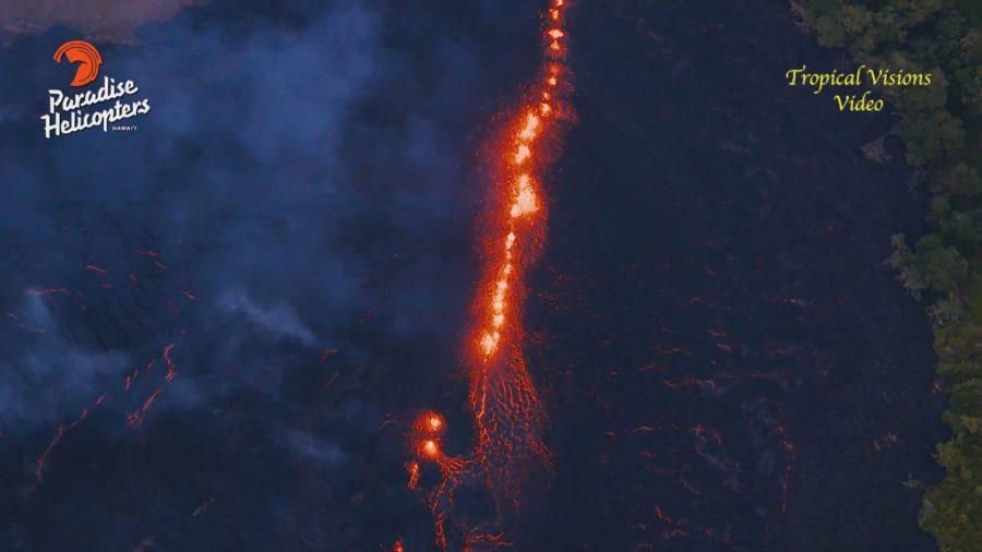 VIDEO: 2 pm Eruption Update – Above Fissure 17, Lava Flow