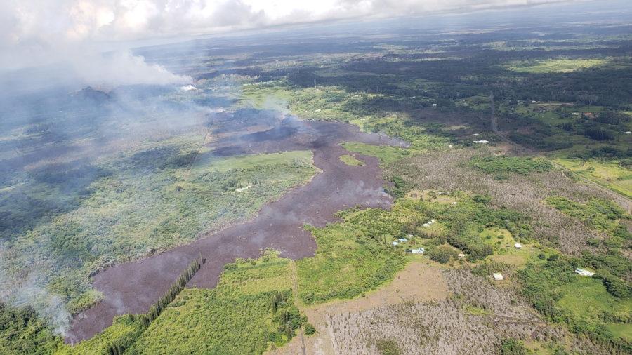 6 am Eruption Update – Lava Flow Has Not Advanced