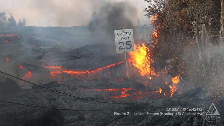 VIDEO: 7 am Eruption Update – New Fissure 22 Opens