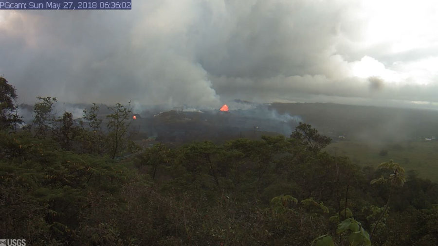 7 am Eruption Update – Lava On PGV Property, No H2S Detected