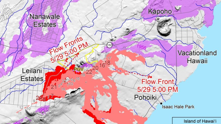 Evacuations Advised For Kapoho As Lava Approaches Beach Road