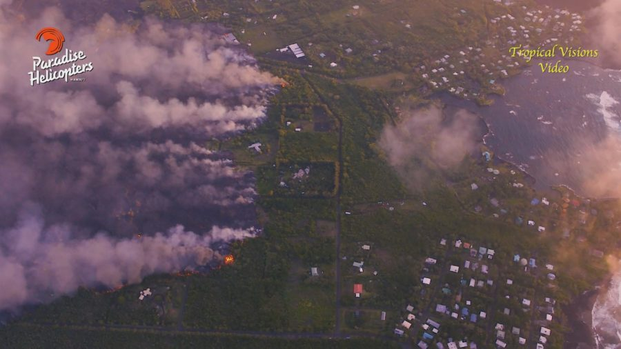 VIDEO: 2 pm Eruption Update – Lava 400 Yards From Ocean In Kapoho