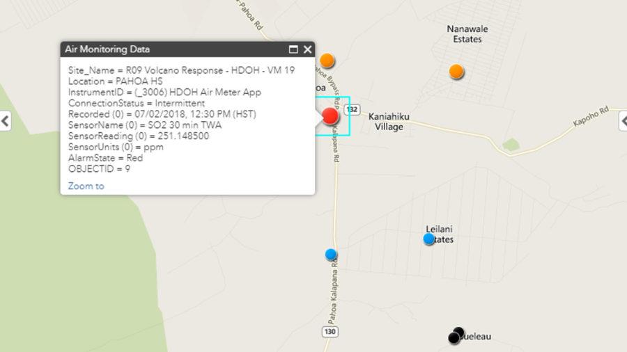 Dangerous SO2 Levels Detected Near Puna Eruption