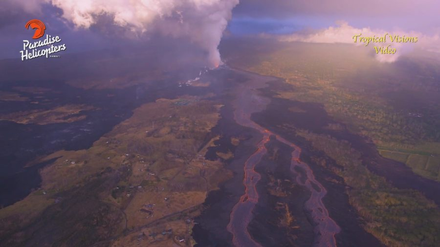 VIDEO: 7 am Eruption Update – Flow Continues Expanding In Kapoho