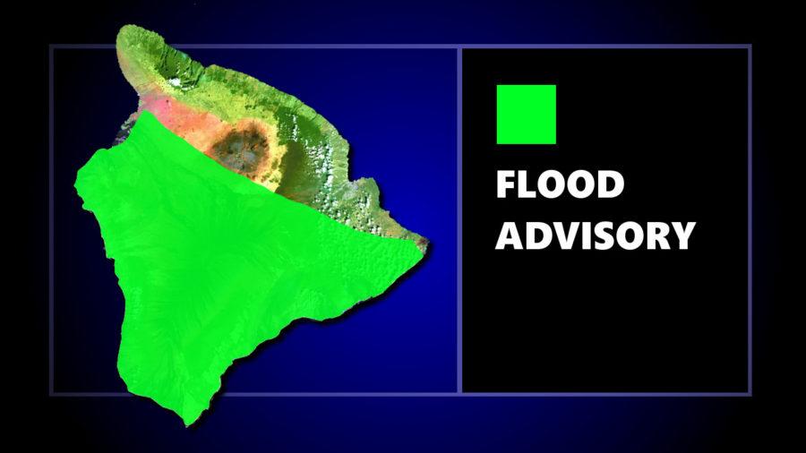 Flood Advisory Issued For Hawaii Island