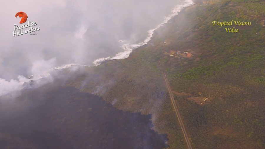 VIDEO: 4 pm Eruption Update – Lava Nears Ahalanui Ponds, School