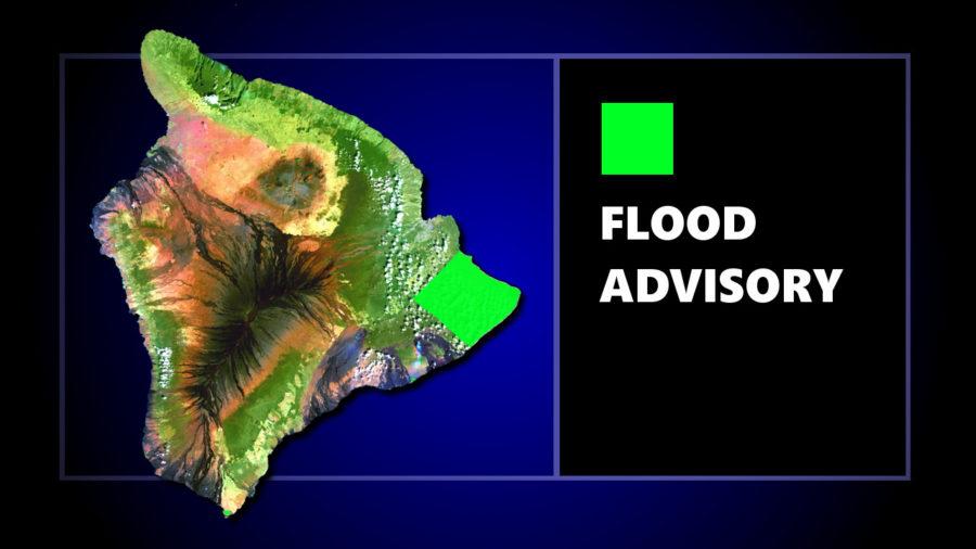 Flood Advisory Issued For Puna Area