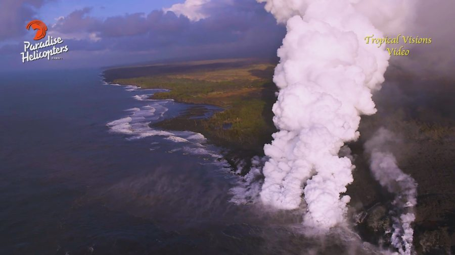 VIDEO: 7 pm Eruption Update – Pohoiki, Overflows, & The Tiny Lava Island