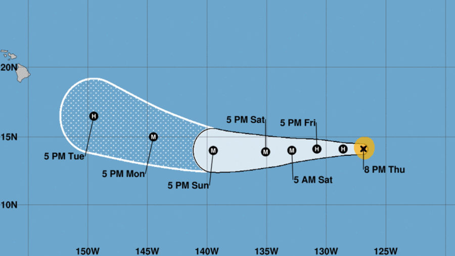 Hurricane Hector Strengthens, Forecasted Path Uncertain