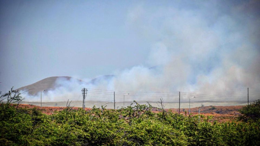 Fire Department Details Waikoloa Brush Fire Fight