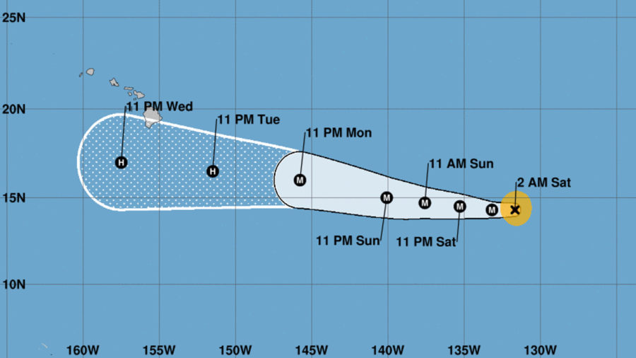 11 pm Update – Major Hurricane Hector Maintains Strength