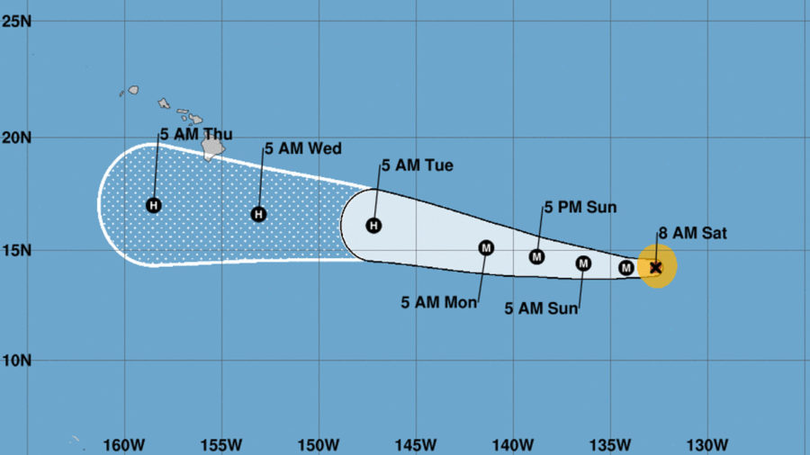 Hurricane Hector Moving West, Still Predicted To Pass South Of Hawaii