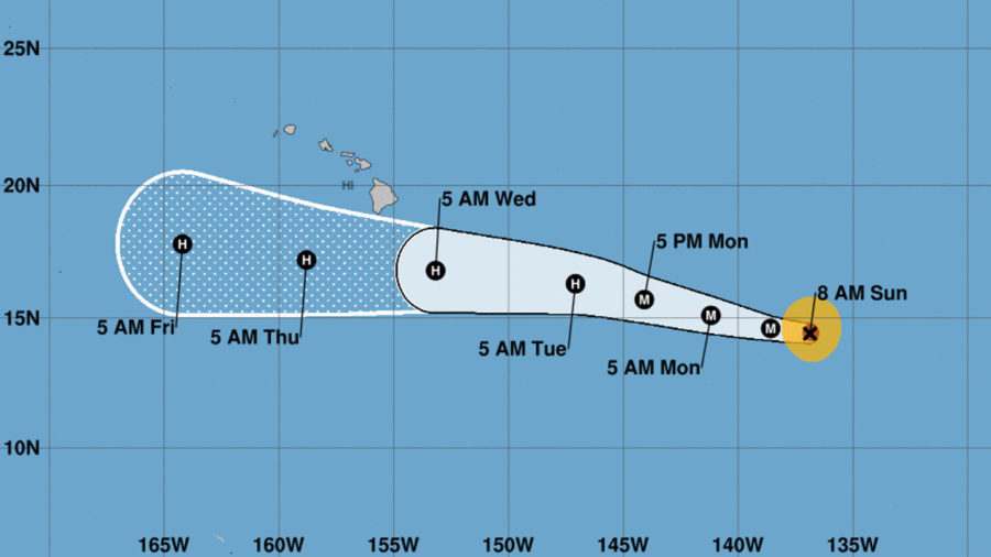 Hurricane Hector Still Tracking Towards Hawaii, Should Pass South
