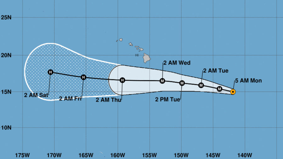 Category 4 Hurricane Hector Intensifies, 930 Miles Away From Hilo