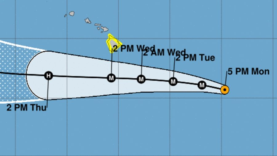 VIDEO: Hurricane Hector Update for 5 pm Monday