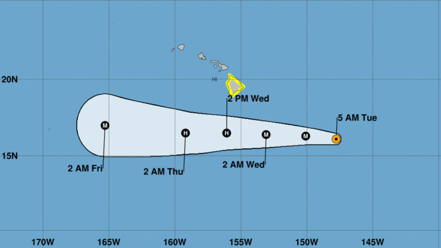 Hurricane Hector Should Pass South Of Hawaii, Bringing Rain & High Surf