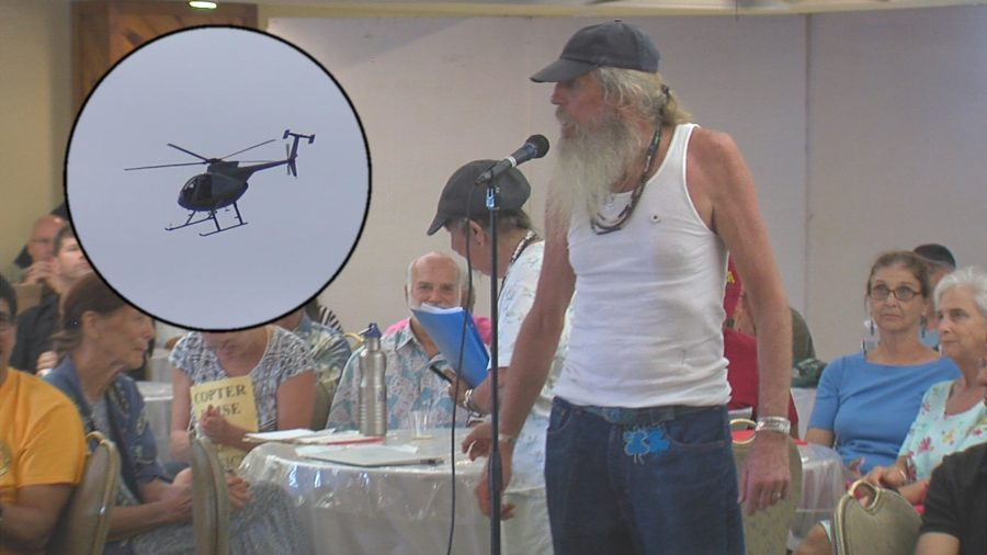 VIDEO: Passions Flare At Tour Helicopter Noise Meeting
