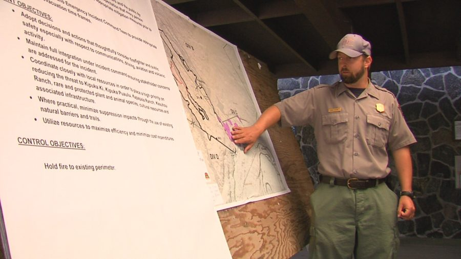 VIDEO: Mauna Loa Brush Fire Update From NPS