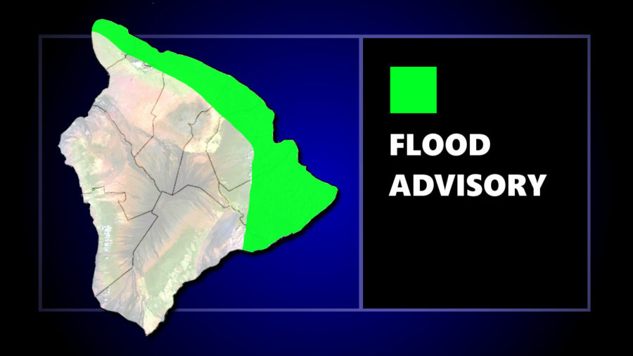Flood Advisory In East Hawaii, Flash Flood Warning Issued