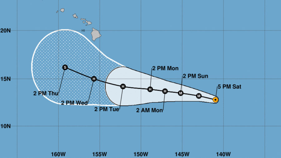 Category Four Hurricane Lane Enters Central Pacific