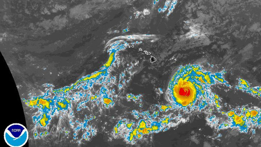 11 am: Back To Category Four Hurricane, Lane Could Track Towards Hawaii