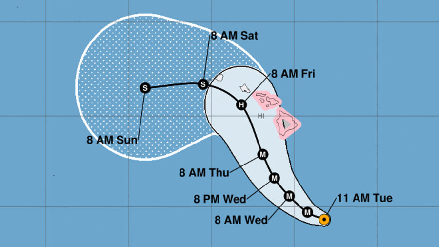 "11 am: Hurricane Lane On Track To Pass ""Dangerously Close"" To Hawaii"