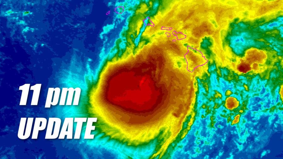 Hurricane Lane Update – 11 pm – Thursday, August 23
