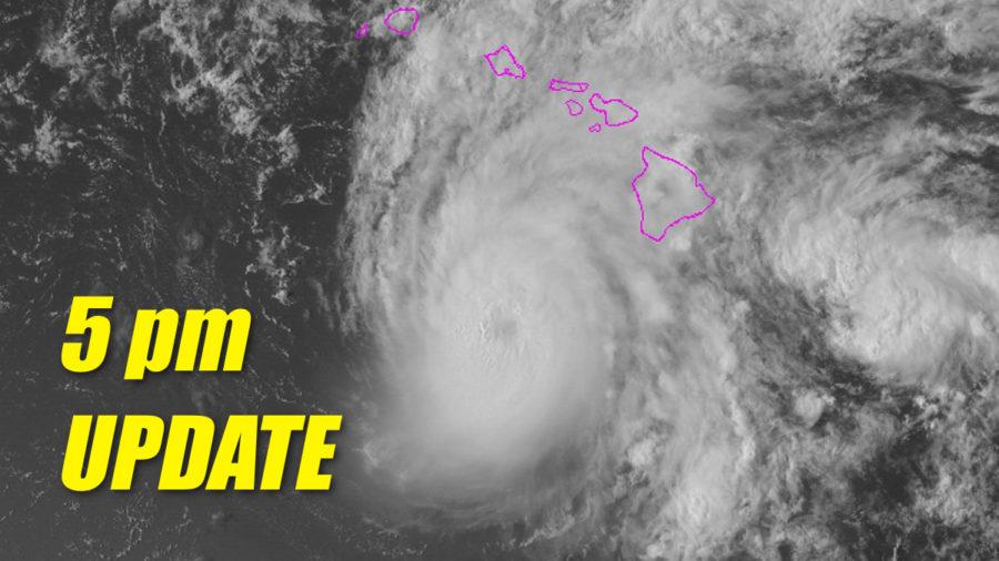 Hurricane Lane Update – 5 pm – Tropical Storm Warning