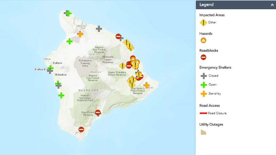 9 pm – Flood Warning For Entire Big Island, Lane Impact Map Released