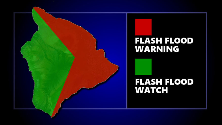 9 am Updates – Flash Flood Warning Persists For East Hawaii