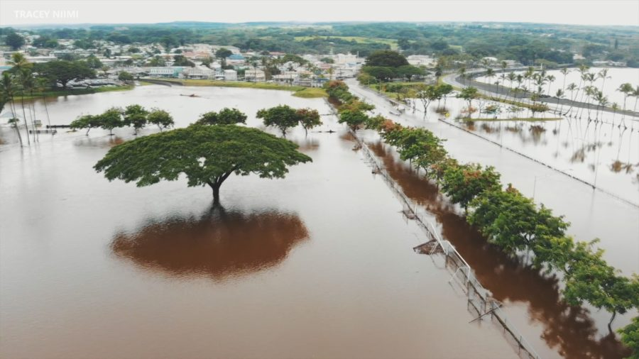 VIDEO: Hawaii Island Flooding Update – Noon on Saturday, Aug. 25
