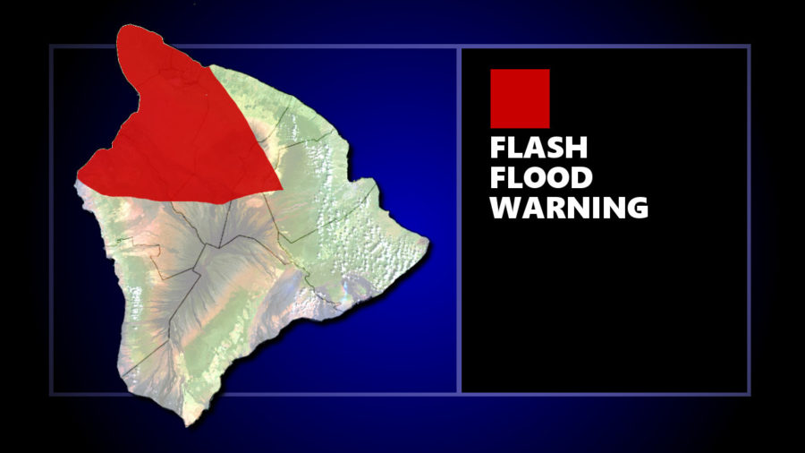 Flash Flood Warning for Kohala, North Kona