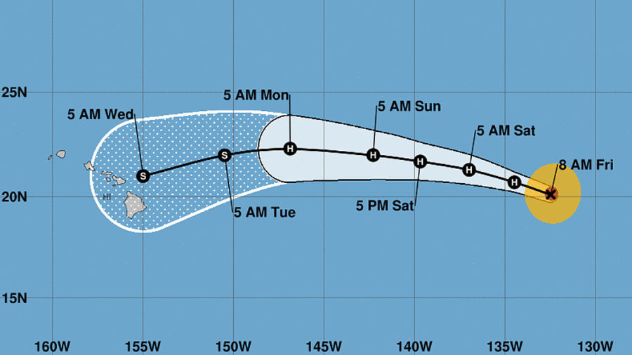 Major Hurricane Olivia On Early Track Towards Hawaii