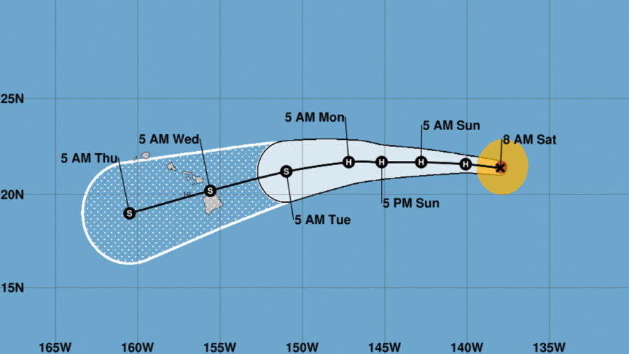 Hurricane Olivia's Forecasted Track Over Hawaii Holds