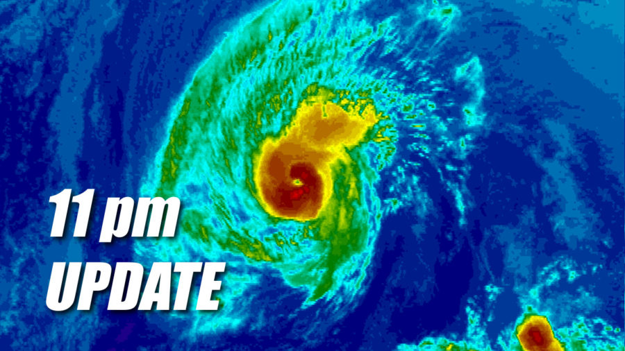 Hurricane Olivia Update for 11 pm Sunday